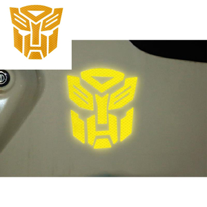 Image 1 - 3d Reflective  Warning Car Sticker Transformers For Car Auto logo Window Tail Car Body Decoration Car Styling