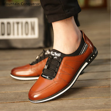 Mountain Conqueror Genuine Leather Men Shoes Breathable Mens Casual Shoes Fashion Lace-Up Shoes Thick Plush Flats SIZE 38-44 цены онлайн