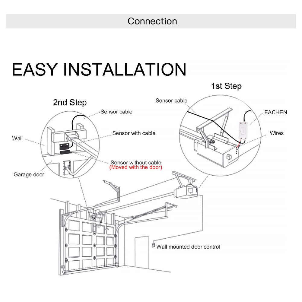 Akıllı WiFi garaj kapısı denetleyicisi akıllı yaşam APP uzaktan açık yakın monitör ile uyumlu Alexa Echo Google ev hayır Hub gerektirir
