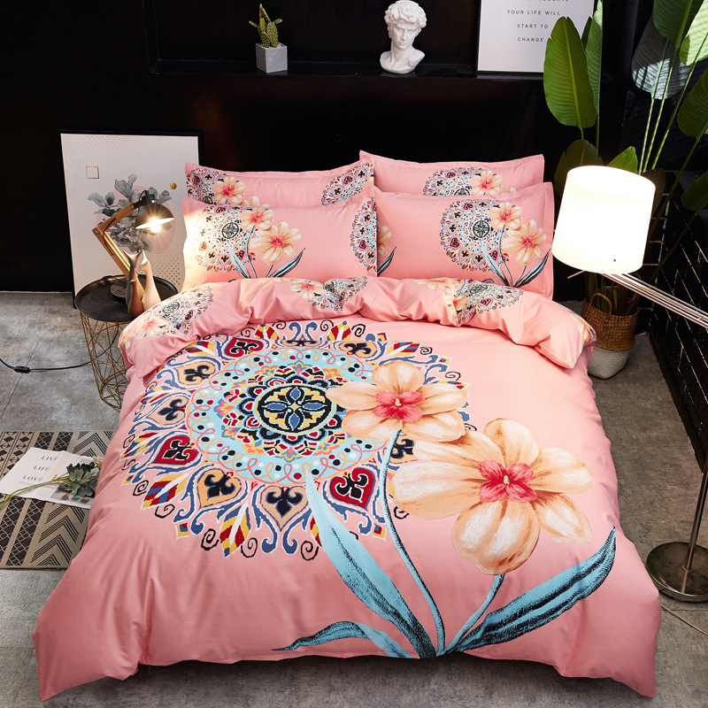 Wechat Business Hot Selling Enjoy Excellent Anna Rich Textile Large Version Of Four-piece Set Thick Brushed Quilt Cover Bedding