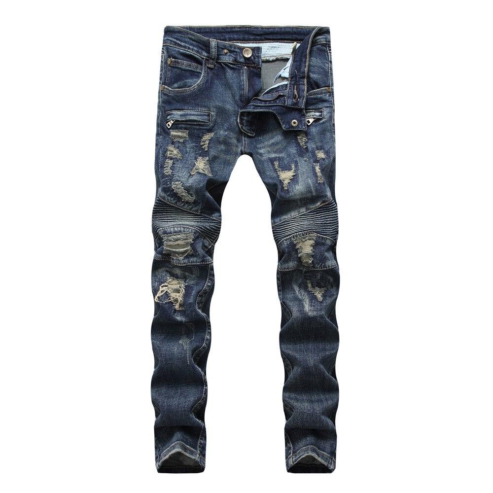 Denim Designer Hole Skinny Jeans High Quality Ripped For Men Size 28-38 2020 Autumn HIP HOP Punk Streetwear