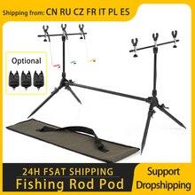 Lixada vara de pesca carrinho ajustável retrátil carpa pesca pólo titular acessórios ferramentas suporte da carpa para pesca