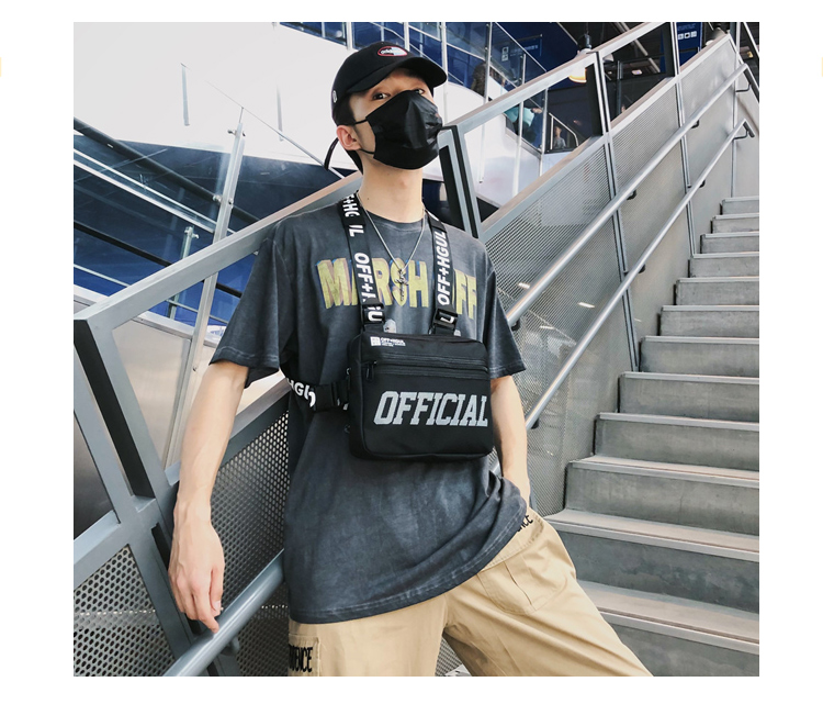 H86a14dbc554842b18afe9960a8587cb2o - Men Tactical Vest Bag Male Tactical chest Bag Canvas Waistcoat Packs Streetwear Hip-hop Vest Men Chest Rig Bag Boy Travel Bags