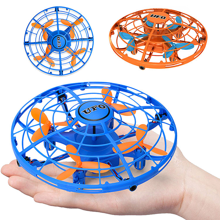 Induction Vehicle Gesture Five Surface Sensing UFO Suspension UFO With LED Light Model Toy