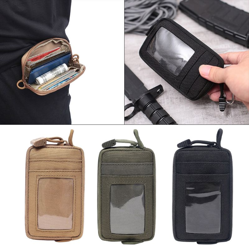 Travel Wallet Card Bag Tactical EDC Pouch Camping Hiking Waterproof Waist Bag