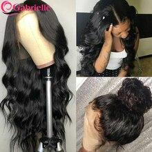 360 흑인 여성을위한 레이스 정면 인간의 머리 가발 미리 뽑아 브라질 인간의 머리카락 레이스 가발 바디 웨이브 레미 헤어 가브리엘