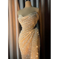 Sequins Evening Gown abiye Arabian Evening Gowns Floor Length Vestido De Festa Formal Dresses Gorgeous Prom Gowns vestido longo