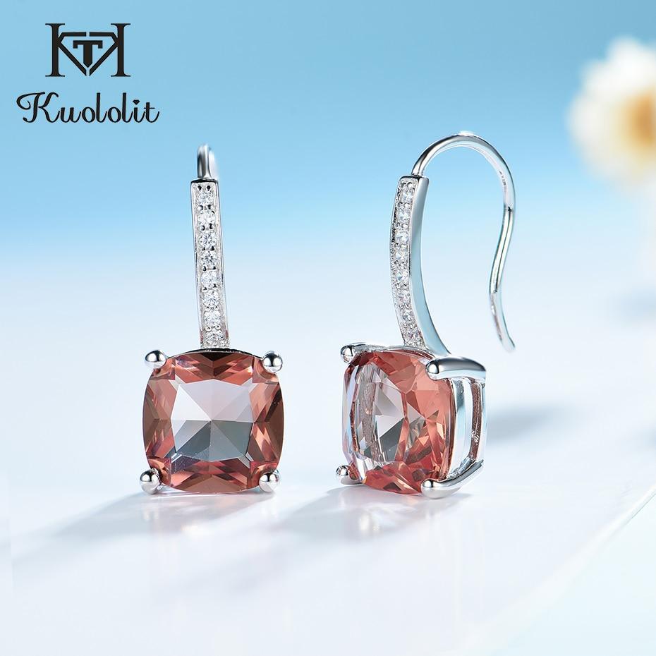 Kuololit Zultanite Gemstone Drop Earrings For Women Real 925 Sterling Sliver Earrings Color Change Diaspore Gift Fine Jewelry