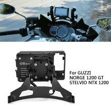 Telefon standı için GUZZI NORGE 1200 GT desteği STELVIO NTX 1200 GPS / smartphone motosiklet navigasyon braketi cep telefon braketi