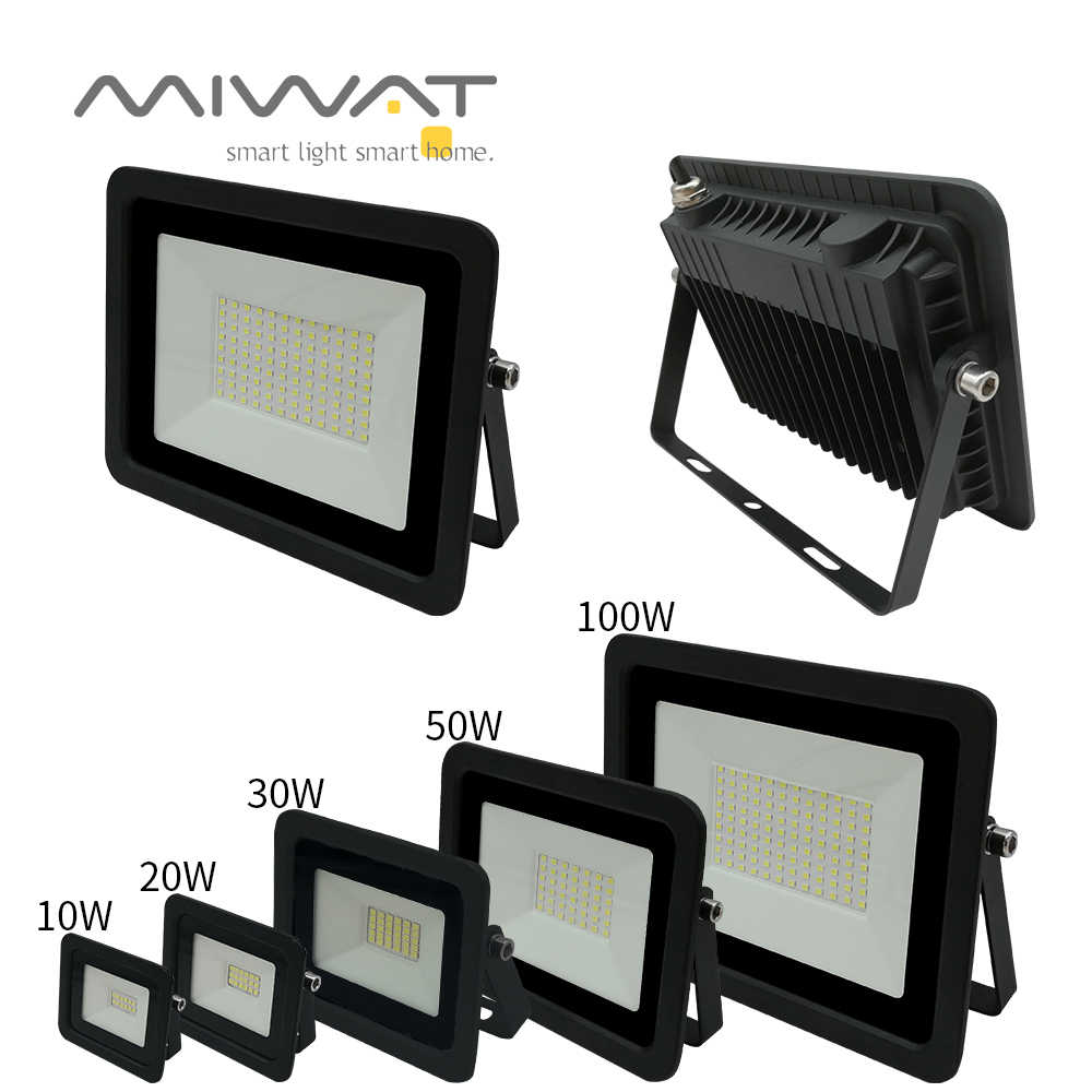 Ultra-thin10W 20W 30W 50W 100W LED Flood Light Spotlight Led Search Lamp 110V/220V Floodlights for Outdoor Garden Street Square