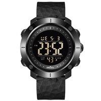 SMAEL-Reloj de pulsera deportivo Digital LED, resistente al agua hasta 50M, reloj para natación, cronómetro, Militar