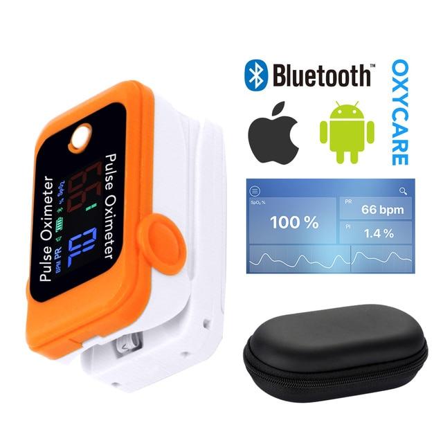 OLIECO Bluetooth Finger Pulse Oximeter SpO2 PR Oximetro Sleep Heart Rate Monitor Blood Oxygen Saturation Meter Home Health Care 5
