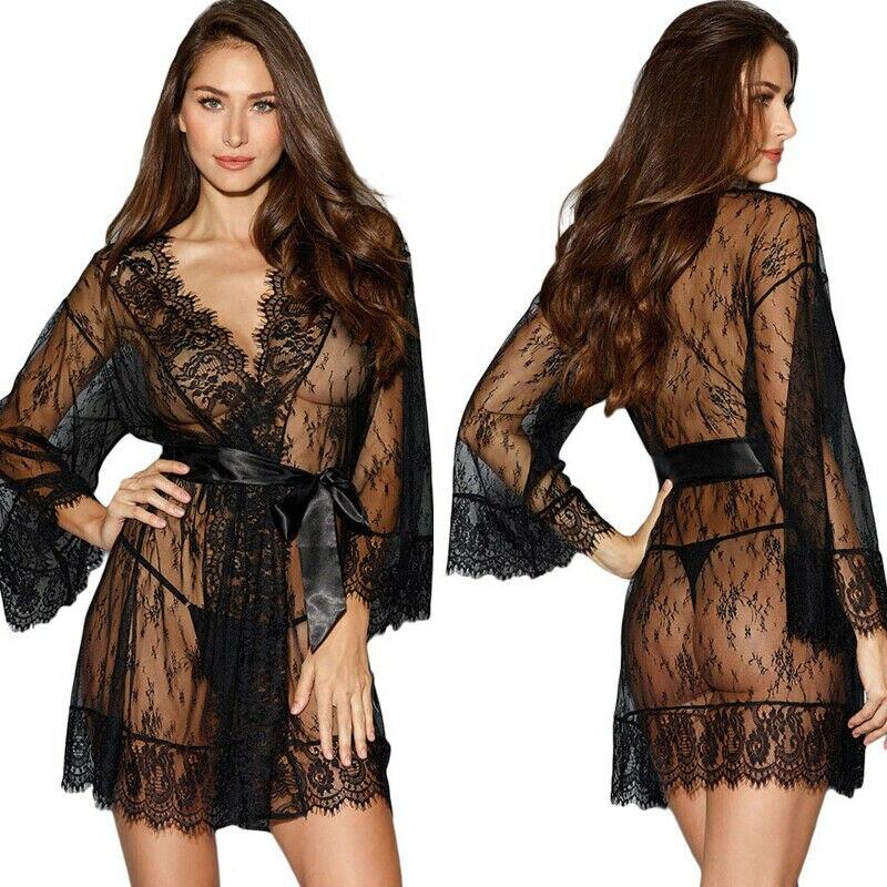 Goocheer Ladies Lace See Through Bandage Women Sexy/Sissy Lingerie Babydoll Nightwear Underwear Lace Dress Gifts