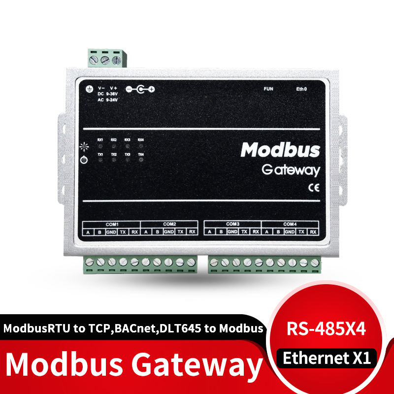 Шлюз Modbus RTU, Modbus TCP, BACnet, DLT645 to Modbus