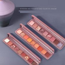 8 cores compõem matte impermeável longa duração smoky shimmer pigmentado paleta de sombra de olho natural fosco paleta de sombra de olho