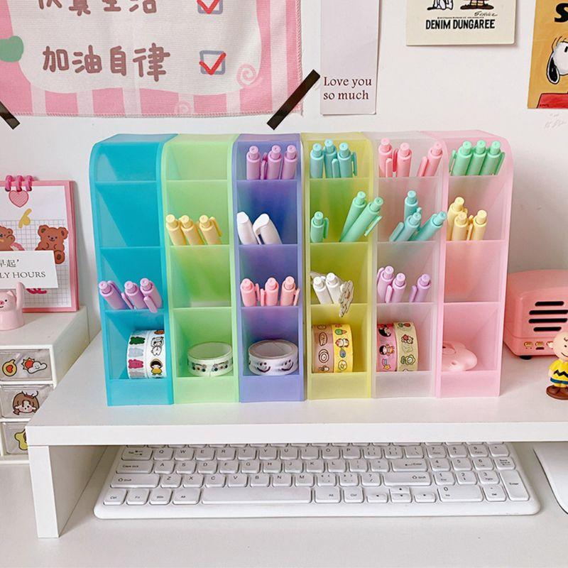 Schreibtisch Stift Halter Bleistift Make-Up Lagerung Box Desktop Organizer Schule Büro Schreibwaren