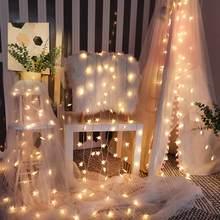 Romântico estrela redonda lanterna luzes led corda crianças decoração do quarto de fadas guirlanda luzes casa jardim festa natal decoração luzes