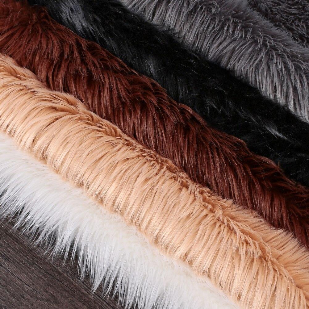 Forme irrégulière multicolore tapis sol moelleux tapis décoration chaude chambre chaise luxueux anti-dérapant canapé tapis maison - 2