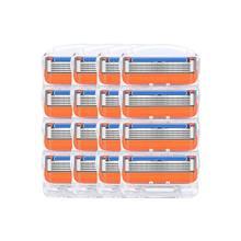 16 sztuk/partia mężczyźni Razor Blades kasety do golenia pielęgnacja twarzy mężczyzn ostrza do golenia