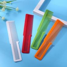 Peigne coloré pour Salon de coiffure, en Fiber de carbone, Anti-statique, à dents larges, pour coupe de cheveux, outil de coiffure, 1 pièce