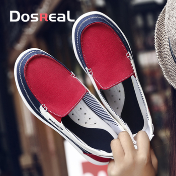 Dosreal Spring Women Flats Canvas Shoes For Female Soft Casual Sneakers Sweet Fashion Moccasins Ladies Loafers - discount item  44% OFF Women's Shoes