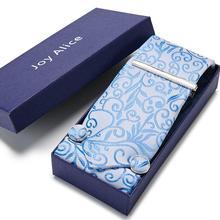 New Classic 7.5cm 100% Silk Tie for Men Blue Tie Luxury Jacquard Woven Ties for Men Set Cravat Wedding Party Necktie set 12568