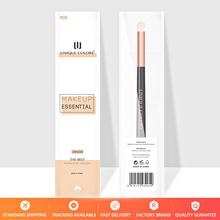 U208 Small  eye shadow brush Blending Eye shadow Eye brow or Eye layering shadow Rose gold ferrule wooden handle Makeup brushes