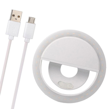 USB Charge LED Selfie Ring Light for iPhone Samsung Supplementary Lighting Night Darkness Enhancing phone Fill