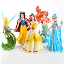 5 Pcs/set Disney Princess Frozen 2 Elsa Putri Duyung Kecil Salju Putih PVC Action Figure Collectible Model Boneka untuk Anak-anak hadiah(China)