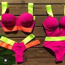 Sexy Patchwork Bikini 2021 Women Swimsuit Push Up Brazilian Swimwear Bathing Suits Female Summer Beach Wear Biquini Swimming