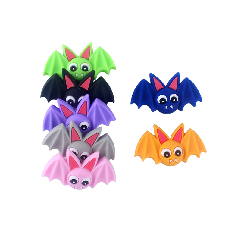 5Pcs Bat Shape Baby Silicone Teething Beads DIY Pacifier Clip Holder Halloween Cute Beads For Baby Chew