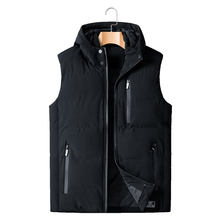2020 Herfst Winter Mouwloze Jas Down Vest Mannen Warme Dikke Hooded Jassen Gewatteerde Vest Plus Size XL-5XL 6XL 7XL 8XL(China)