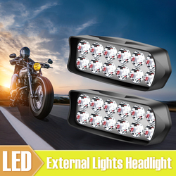 SUHU 18W Motorcycle 12LED External Lights Headlight Spot Fog Lamp Waterproof 1800LM 5700-7000K LED Scooters Headlamps Accessoris