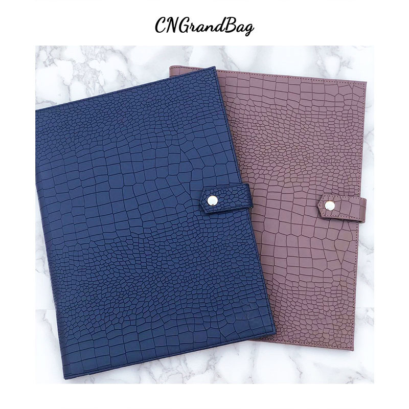 Fashion Business Briefcase Embrossed Ostrich Pattern File Folder New Large Capacity Laptop Briefcase Top Quality Document Bag
