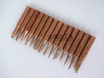 15pcs/lot Pure Copper 900M-T Soldering Iron Tip Lead-free Solder Tips Welding Head BGA Soldering Tools lson k mouth oxygen free copper soldering iron tips silver white 2 pcs