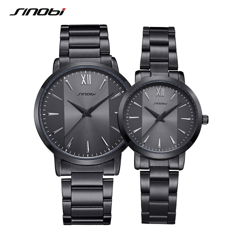 Sinobi New Fashion Lover Quartz Watches Simple Dress Man Woman Watch Couple Wristwacthes Wedding Gift Clcok Relojes Homble 2020