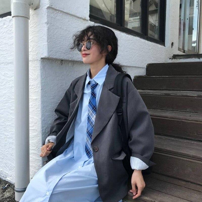 Blazer Feminino Coat Women Suit Coats Long Sleeve Loose Black Blazers Jackets Vintage Casual Summer Blazer Women 2020 Fashion
