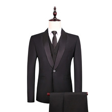 3Pcs Mens Suits Slim Winter/Autumn Blazer Female Western Jacket Single Breasted New Casual Plus Size with Pants+Vest