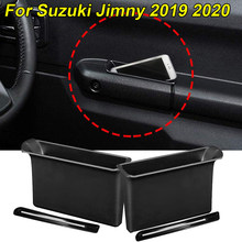 Accesorios de coche para Suzuki Jimny 2019 2020, reposabrazos, contenedor, caja de almacenamiento para puerta, mango de bolsillo, 2 uds. De protección ambiental