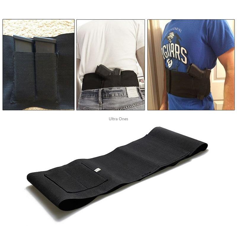 Pistolera táctica de banda para el vientre para transporte oculto se adapta a pistola Smith y Wesson Bodyguard, Shield, Glock 19, 17, 42, 43, P238