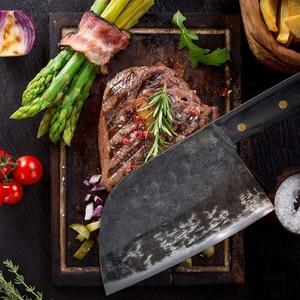Image 5 - XITUO полный Танг китайский мясницкий нож ручной работы кухонные ножи с твердым покрытием стальное Кованое мясо овощи нарезка инструмент для нарезки Sharp Hard