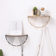 Wall shelf Home Decoration kitchen accessories storage hanging Nordic creative stand shelves Metal ornaments rack for bathroom