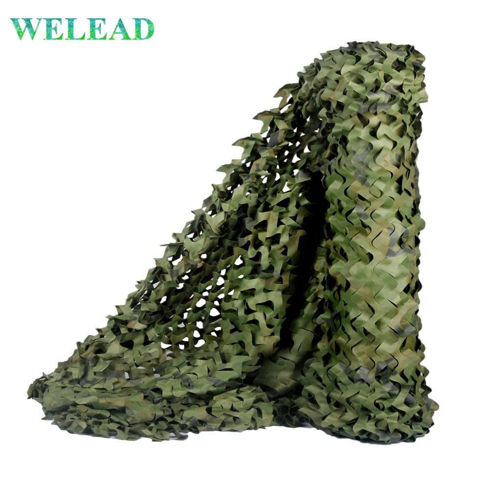 WELEAD Woodland Reinforced Camouflage Net Military Hunting Jungle For Pergola Gazebo Mesh Hide Garden Shade Outdoor Awning Cover