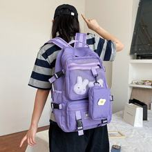 Korea INS Fengsen Department of Large Capacity Tooling Wild High School Student Backpack Harajuku Girl Traveling Schoolbag(China)
