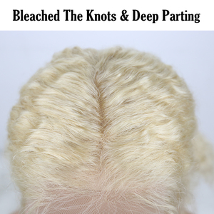 Image 5 - Kinky Curly Lace Front Wig 613 Honey Blonde HD Transparent Lace Short Bob 13x6 Human Hair Wigs Brazilian Dolago Colorful Wig