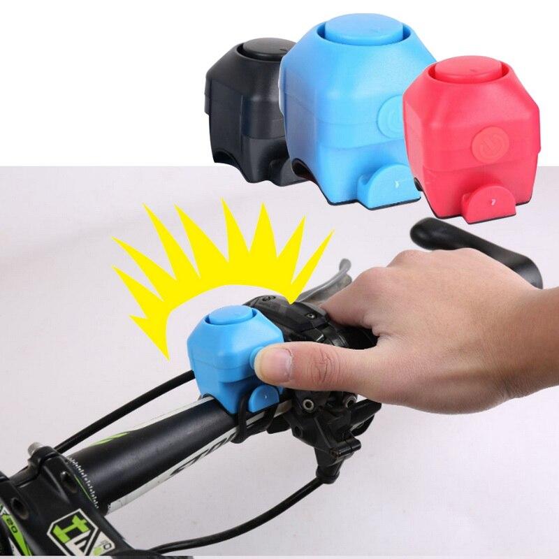 Велосипед Электронный громкий звуковой сигнал 130 Предупреждение Безопасность электрический звонок полицейская сирена для велосипеда руль...