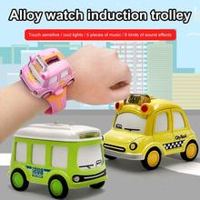 Kids Mini Alloy Bus/Taxi Style Model Pull Back Car Watch Toys Watch