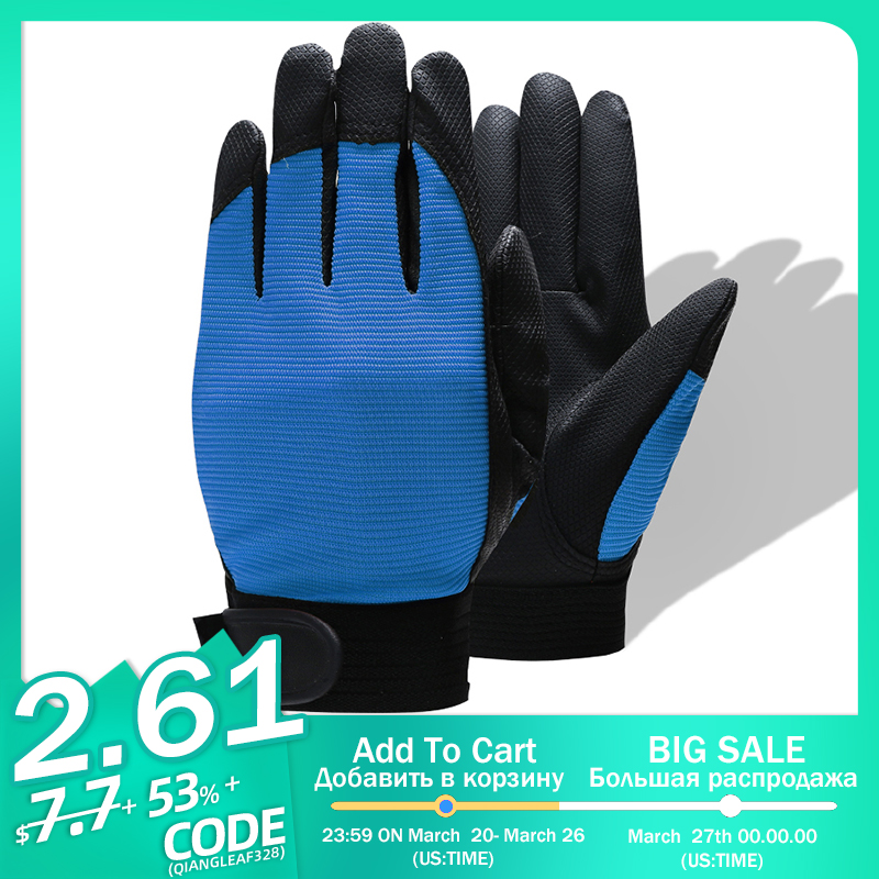 QIANGLEAF Brand Blue Work Gloves Safety Equipment Man Driving Glove Mining Safety Wear Resistant Rubber Gloves 2510