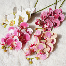 6 Heads Butterfly Orchid Artificial Flowers Fake Moth flor Flower for Wedding DIY Decoration Real Touch Home Decor Flore