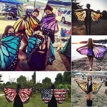New Fashion Cosplay Butterfly Wings Dress Up Fabric Costume Pretend Play Scarves